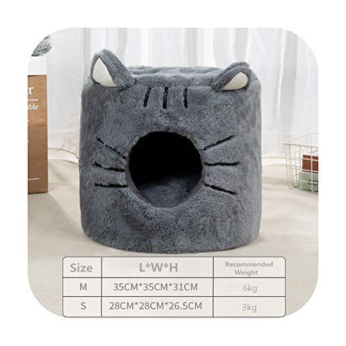 Camas de gato extraíbles Casa perrera Casa de gato Mascota Nido Perro perrera Sofá Productos para mascotas Tienda de gato Pet Chinchilla Productos para mascotas para Perro-gris-M