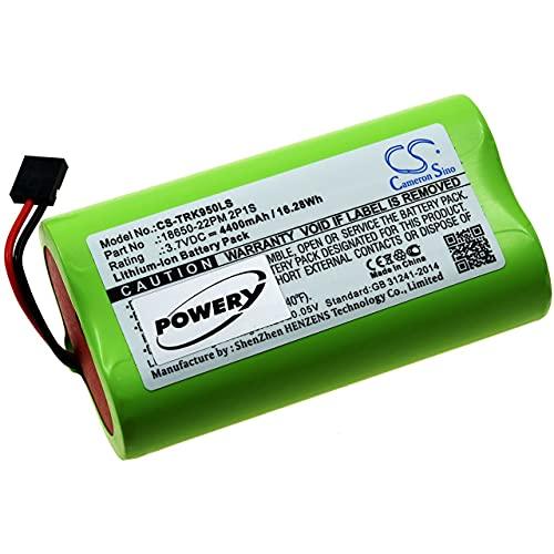 Powery Batería para Faro LED para Bicicletas Trelock LS 950