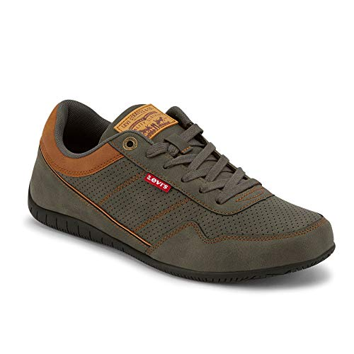 Levi's Mens Rio Waxed UL NB BT Athletic Inspired Fashion Sneaker Shoe, Charcoal, 9 M