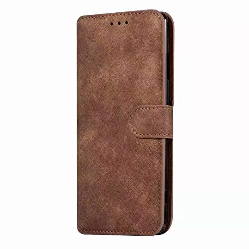 Sunrive Hülle Für HTC One M9 Plus, Magnetisch Schaltfläche Ledertasche Schutzhülle Etui Leder Hülle Cover Handyhülle Tasche Schalen Lederhülle MEHRWEG(W8 Brown)