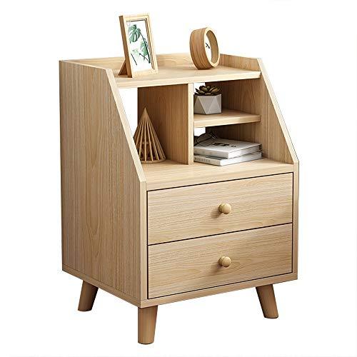 CSQHCZS-CBZ nachtkastje nachtkastje met opberglade massief houten pootjes|Sofa Table Side End Table Bookcases Display Stand|Solid Wood Handle|Stabiele constructie|Eenvoudig te monteren|Woonkamer, Slaapkamer