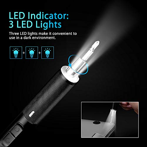 Electop Electric Rechargeable Screwdriver, Portable USB Power Supply Cordless Screw Driver, 21 Precision Bits /3 LED Lights/Magnetic Carry Case/Quick Change Chuck for Telephone, Watch, Camera etc.