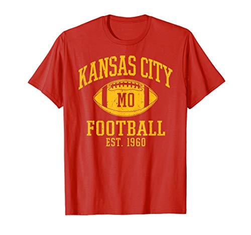 Vintage Kansas City KC Football Missouri Retro Gift T-Shirt