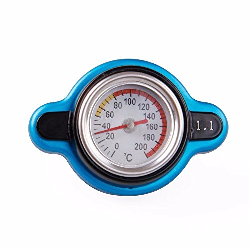 Paddsun 1.1 Bar Thermostatic Radiator Cap High Pressure 13 PSI Pressure Rating with Temperature Gauge Aftermarket Accurately