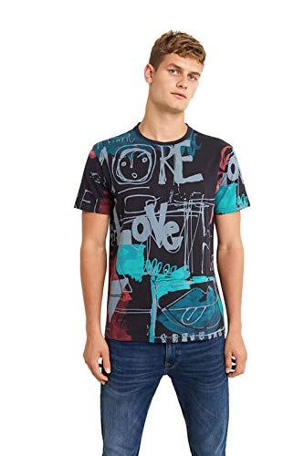 Desigual Ian - Camiseta azul marino L