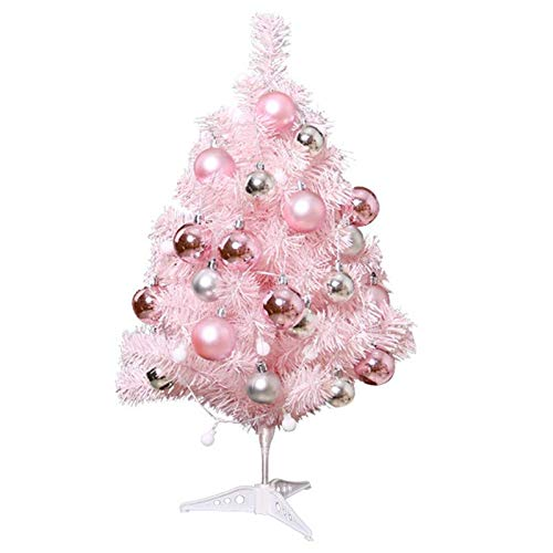 Alapaste 24inch Mini Desktop Artifical Christmas Tree Simulation Tabletop Xmas Tree with Lights and Ornaments for Christmas Decoration Supplies