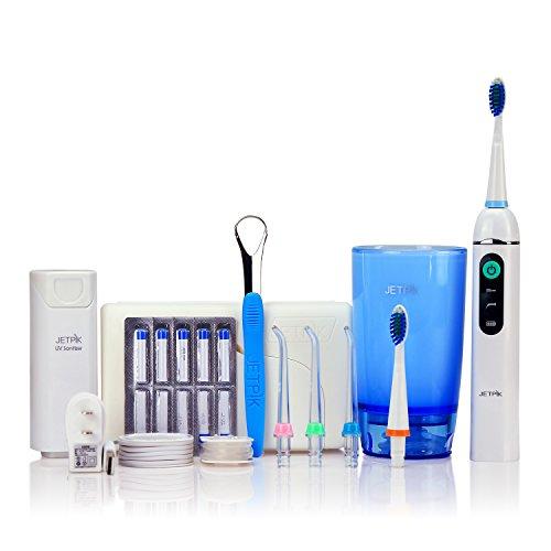 JETPIK 200 (Ultra) Sistema 3 en 1: hilo dental eléctrico con impulsos...