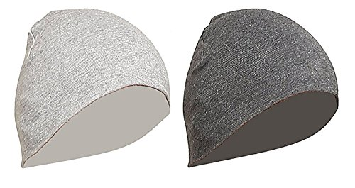Gajraj WV01RCA08101 Cotton Helmet Cap (Grey and Light Grey, Pack of 2)