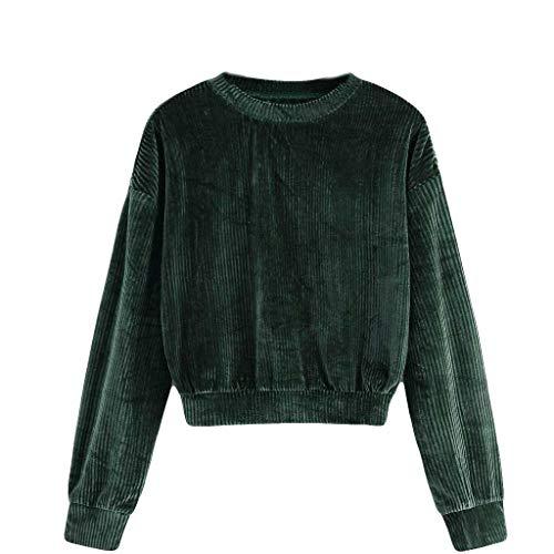 Femmes Sweat-Shirts Bluestercool Liquidation Chemisier à Manches Longues Tops Casual Col Rond Blouse Confortable T-Shirts Couleur Unie, S-2XL