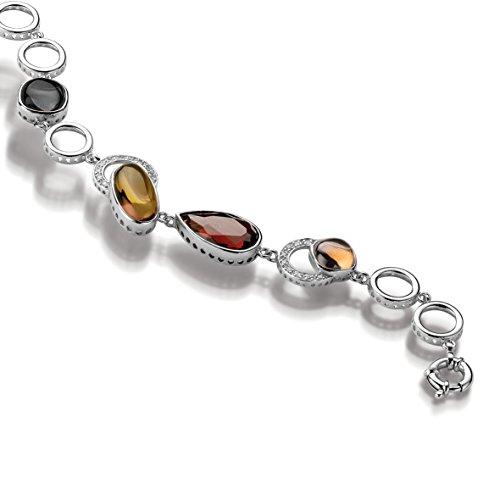 Velini Armband 925 Sterlingsilber Mikro pflastern Einstellung mit farbige Zirkonia Steinen
