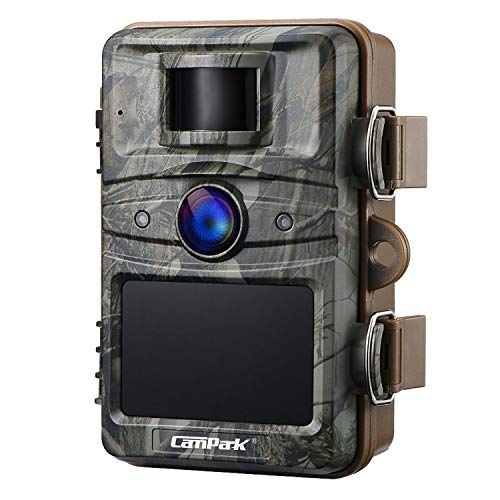 """Campark Upgrade T70 Trail Camera No Glow Night Vision 16MP 1080P Game Camera Outdoor Hunting Cam Security Motion Activated Camera with 2.4"""" LCD and IP66 Waterproof Battery Powered"""
