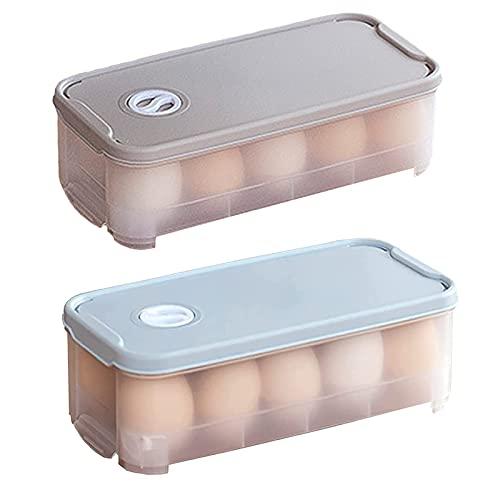 Gloryit 2 pezzi Contenitore per uova,Vassoio Porta Uova in Plastica Coperchio Scatola per Uova Trasparente,Frigorifero Scatole Portauova per Evitare Lo Schiacciamento Contenitore per Uova