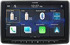 "9"" capacitive touchscreen works with SiriusXM SXV300 tuner -- supports Tune Mix, Traffic & Weather Now, and Sports Flash features Apple CarPlay and Android Auto compatible; built-in Bluetooth"