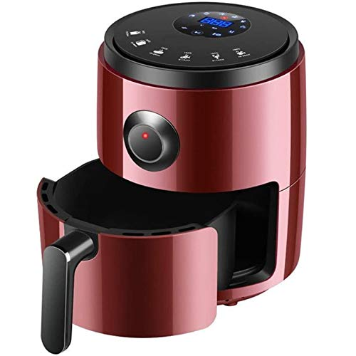 CHENMAO Freidora de Aire, multifunción Free Free Freat Frying Pan Fries Máquina Máquina LCD Smart Fryer Alas De Pollo Mors Red