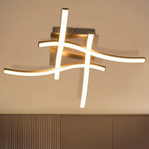 COSTWAY LED Deckenleuchte modern, 4 flammig Deckenlampe für Schlafzimmer, Wohnzimmer und Esszimmer / 4x3,6W / 2700K / 1300LM / 25000H / A+