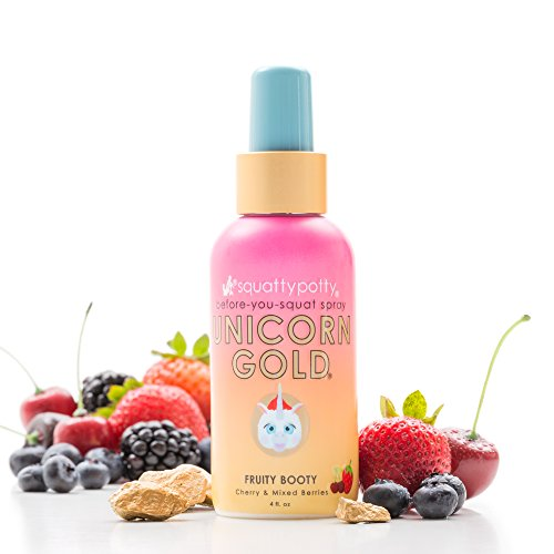 4 Fl Oz Squatty Potty Unicorn Gold Toilet Spray, Fruity Booty