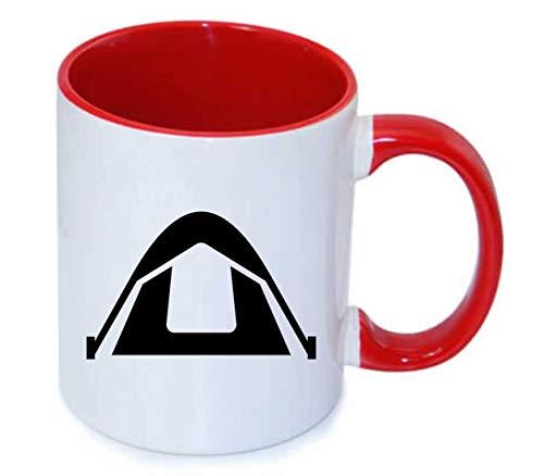 Drucklebnis24 - Taza de café (330 ml, cerámica), cerámica, 05 rojo, talla única