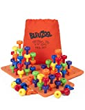 BleuZoo Jumbo Peg Board Set and Bonus Activity Guide - Montessori Sorting Toys for Toddlers | Fine Motor Skills, STEM, Autism, Therapy, Building - Preschool Activities | 60 Pegs, 3 Boards & Bag