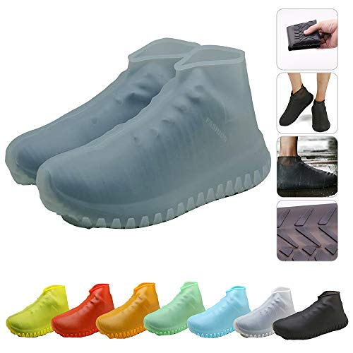 Nirohee Silicone Shoes Covers, Shoe Covers, Rain Boots Reusable Easy to Carry for Women, Men, Kids. (Gray, M)