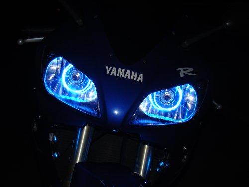 CCFL Halo Angel Demon Eyes Headlight Kit for Yamaha FZ1 FZ6 FZ6r R1 R6 1997-2017