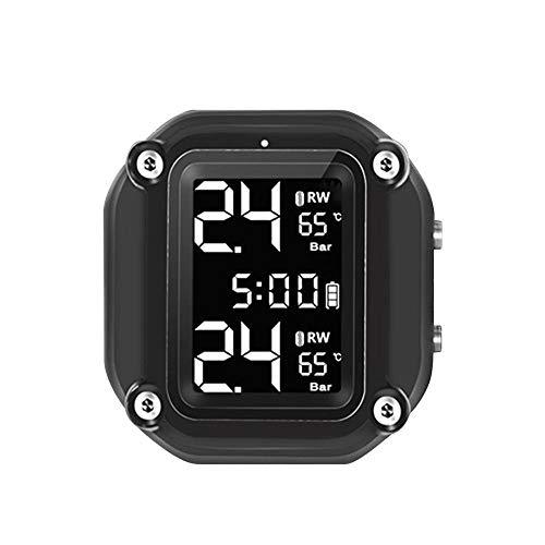 WHEEJE Motocicleta Sensor Externo Motor eléctrico Tiempo Tiempo Tiempo Neumático Presión Temperatura Monitoreo Sistema de Alarma Inalámbrico (Type : Plan C)