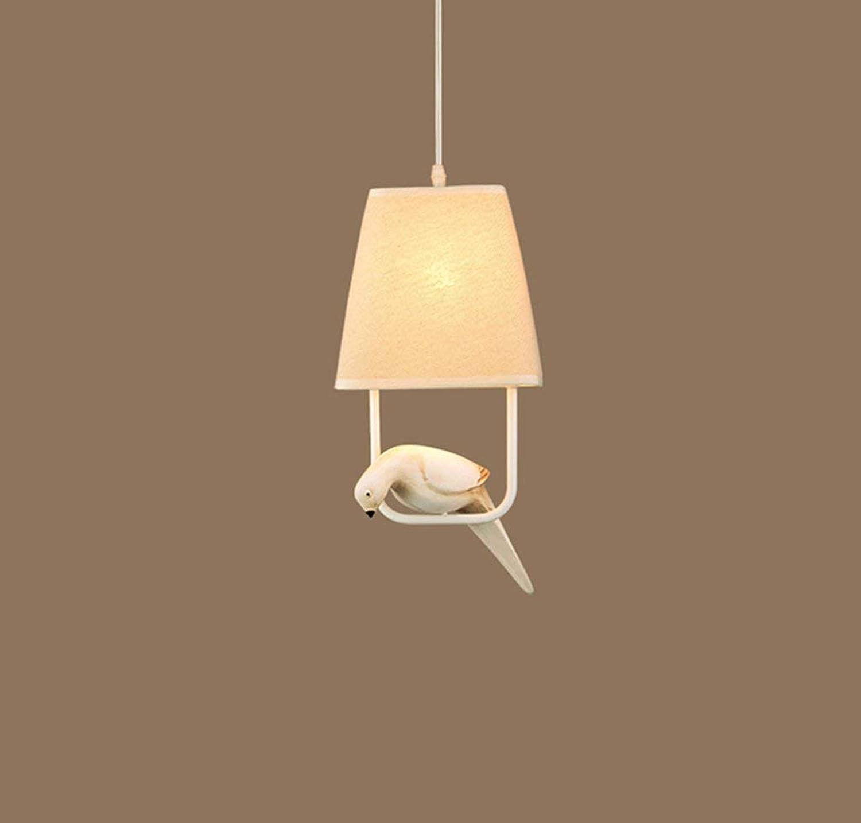BAIJJ Kronleuchter, Vogel Kronleuchter Hardware + Harz Wohnzimmer dekorative Lichter Nordic, E27 ++ (Gre  Durchmesser 18cm)