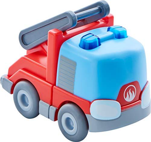 HABA 303844 - Kullerbü – Feuerwehr-Leiterwagen | Motorikspielzeug von 2-8 Jahren | Tolles Zubehör für alle Kullerbü-Bahnen