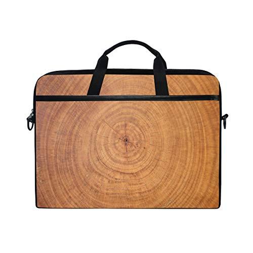GIGIJY Laptop-Tasche aus Holz, Schnittmuster, Leinen, Aktentasche, 33 cm, 33,8 cm, 35,6 cm, 38,1 cm, für Kinder, Jungen, Mädchen, Damen, Herren