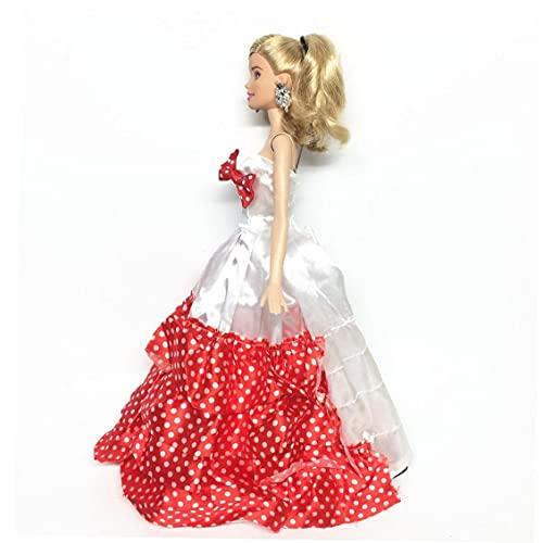 MaylFre 5 PCS Hecho a Mano de la Novedad Banquete de Boda de los Vestidos de los Vestidos de Ropa para la muñeca (Color al Azar/Estilo) Party Favors Regalo