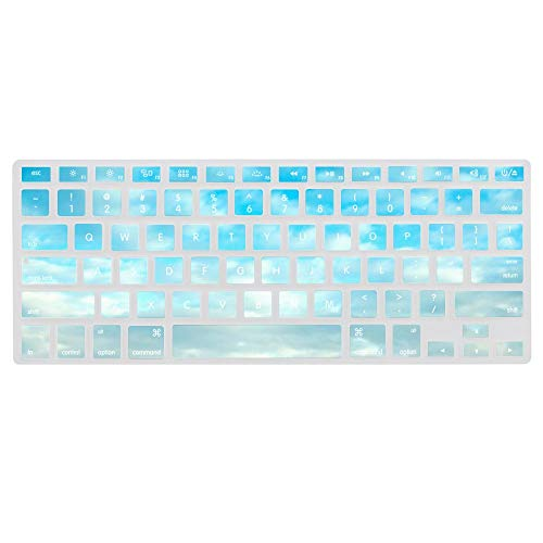 Keyboard Cover Skin for MacBook Water Clouds Architecture Bridges Italy Florence Washable Silicone Keyboard Skin,13.3 inches