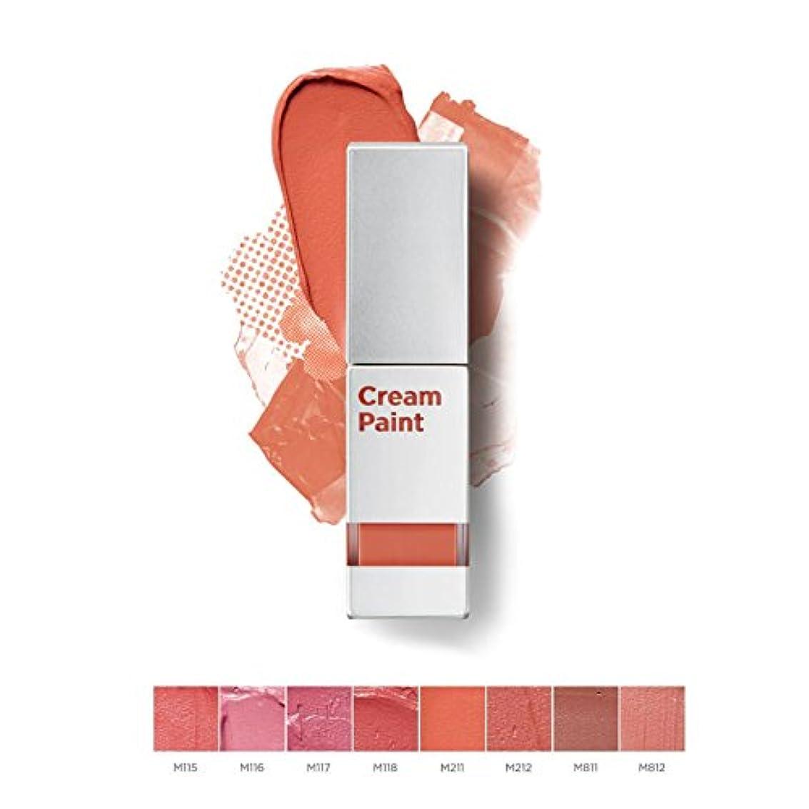 貸し手韓国語ミット【MOONSHOT x BLACKPINK】東洋人の肌の色によく似合うマットリップ?クリームペイントライトフィット (Cream Paint Lightfit) 全8色中択2色 / 正品?海外直送品 (M211. Orange Lily)