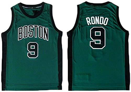 GIHI Camiseta De La NBA, Boston Celtics Rajon Rondo 9# Camiseta De Ventilador Ropa De Entrenamiento De Baloncesto De Malla Bordada Retro,XXL(185~190CM/95~110KG)