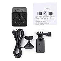 ミニカメラ、ポータブルミニHD赤外線1080Pアクションカメラスポーツカムコーダーキット、マウント付き、30M防水ケース、WiFi接続をサポート(ブラック)