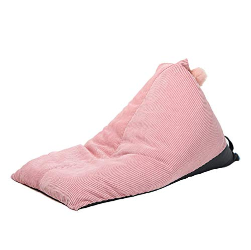 AGVER Klassischer Sitzsack Für Sessel Oder Sofas, Große Dreieck Spielzeug Aufbewahrungstasche Ohne Füllung, Für Erwachsene Und Kinder,Rosa