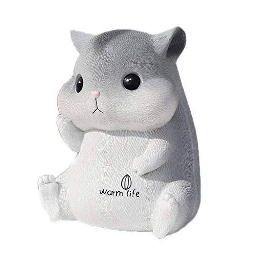 Gift Piggy Bank Año del Hamster Piggy Bank, Niños Piggy Bank, Cambio de Cambio de depósito y retirable, Mejores Regalos para niños Niñas Creatividad Banco de Dinero (Tamaño: M Vida) TINGG