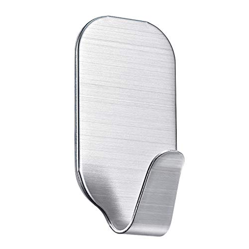 IADZ Sticky Hook,Wall Door Sticky Self Adhesive Hook Stainless Steel Home Hotel Kitchen Bathroom Cabinet Clothes Hanger