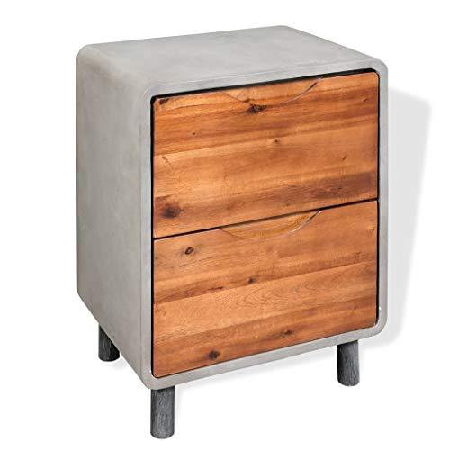 N / A vidaXL Nachttisch, Nachtkommode, Beistelltisch Mit 2 Schublade, Nachtschrank, Sofatisch, Kommode, Schlafzimmer, Wohnzimmer, 40 x 30 x 50 cm