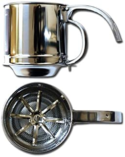 Symak K0215 Al-de-Chef Flour Sifter - 1 Cup Capacity - Stainless Steel, White