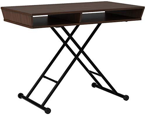 narumikkテーブルウォールナットリフティングテーブル&シェルフ27-823