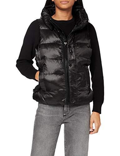G-STAR RAW Damen Jacket Pdd belted vest Wmn, Dk Black C360-6484, Large