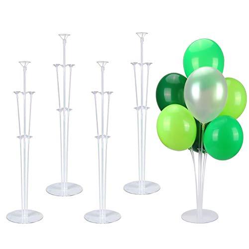 Sinwind 4 Stück Ballon Stick Halter Balloon Stand Kit, Luftballons Ständer Tischballonständer Ballonzubehör, Tisch Inhaber Dekoration für Geburtstagsparty Hochzeit Party Event