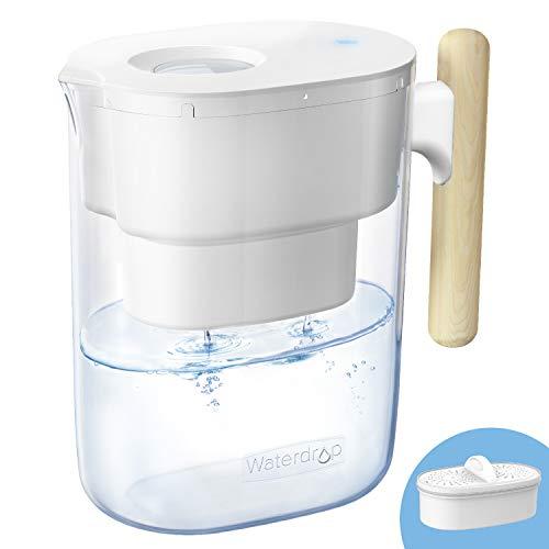 Waterdrop Chubby NSF Zertifizierte Wasserfilterkrug 3.5 Liter mit 1×90 Tage Filterkartusche, 7-Stufige Filteration zur Reduzierung von Chlor, Geruch und Mehr, BPA Frei, Weiß (Filter: WD-PF-01A Plus)