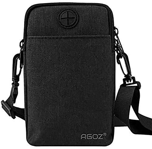 Agoz Crossbody Handbag Cell Phone Purse Wallet Sling Shoulder Bag Strap for iPhone 12 11 XS MAX XR X 8 Plus,7, Samsung S20 S10 Plus,S21,Note 20 10 9 8, S9,S8, Google Pixel 5 4A, LG Stylo 6 G8 (Black)