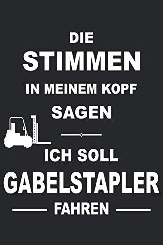 Gabelstapler Fahrer Staplerfahrer Stapler Transport Hubwagen Notizbuch