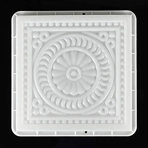 Rawall-hom Betonpflasterform 32x32cm Platz Hersteller DIY Plastikform wiederverwendbares Cement Pavement Mold Betonform Pflasterform (Farbe : Weiß, Size : One Size)