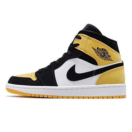 エアジョーダン 1 ミッド AIR JORDAN 1 MID SE YELLOW TOE black/black-tour yellow-white 852542-071 スニーカー AJ1 イエロート