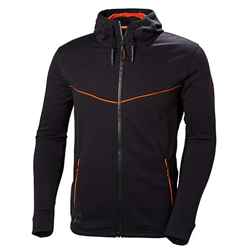 Helly Hansen Mens Workwear Black Chelsea Evolution Full Zip Hoodie 79197 XL