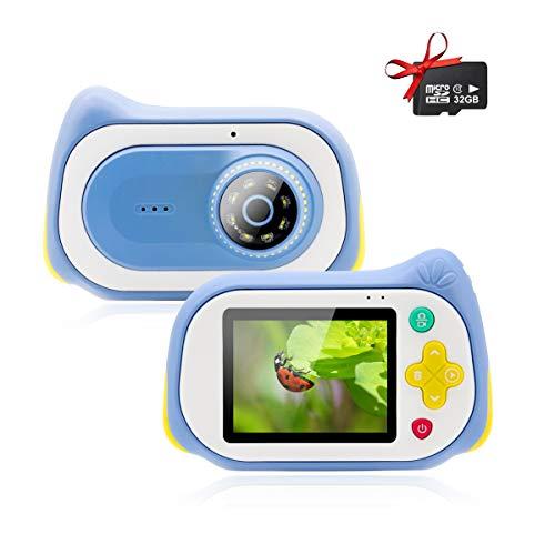 Veroyi Mikroskop Kamera, 15MP Digital Minikamera mit 200X Lupe 32GB Micro SD Karte Mikroskop Camcorder Video Player Recorder für Indoor Outdoor (Blue)