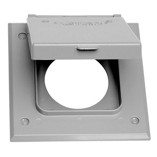 Sigma Electric, Gray 14321 2-Gang 20-50 Amp Outlet Cover