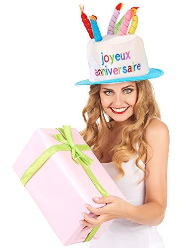 DEGUISE TOI - Chapeau Joyeux Anniversaire Adulte - Taille Unique